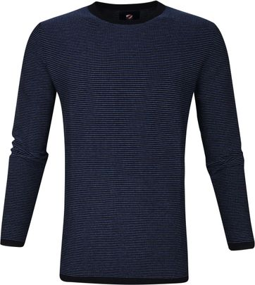 Suitable Katoen Leo Pullover Navy