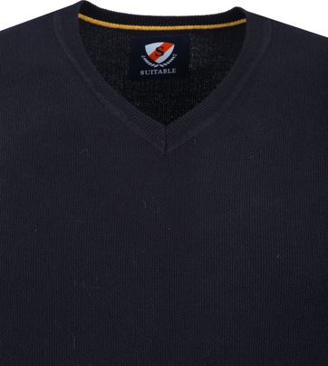 Suitable Katoen Neil Pullover Navy