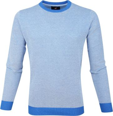 Suitable Katoen Pullover Thomas Blauw