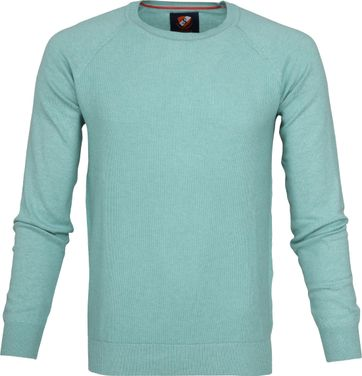 Suitable Katoen Sweater Ben Sea Green