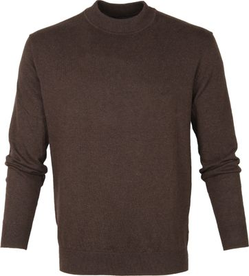 Suitable Katoen Turtle Pullover Bruin
