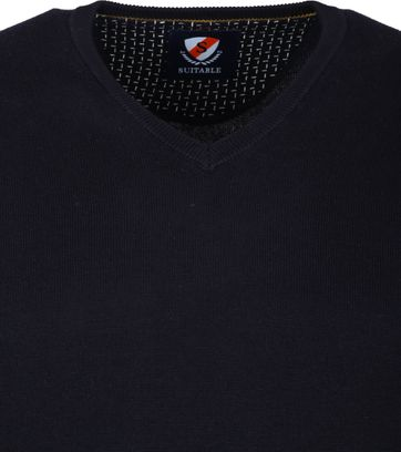 Suitable Katoen Vini Pullover Navy