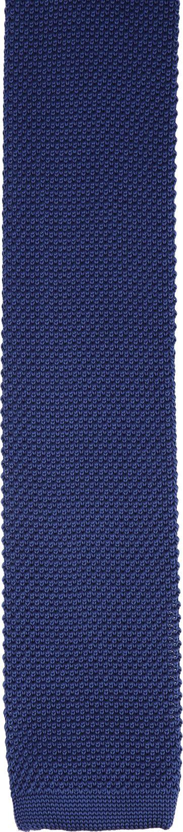 Suitable Knitted Krawatte Dunkeblau