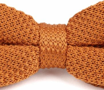 Suitable Knitted Smoking Fliege Orange