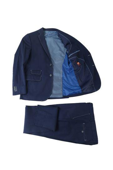 Detail Suitable Kostuum Algodao Donkerblauw