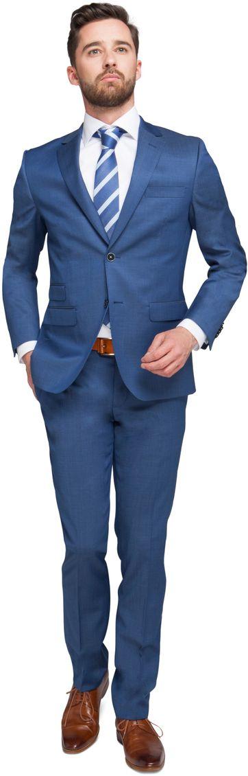 Suitable Kostuum Berlijn Blauw