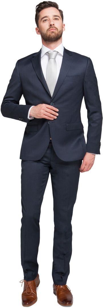 Suitable Kostuum Berlijn Donkerblauw