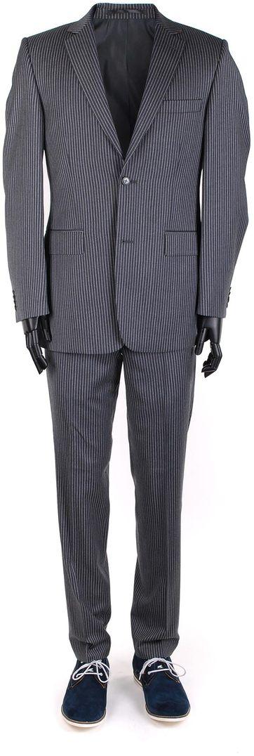 Suitable Kostuum Lagoa Grey Stripe