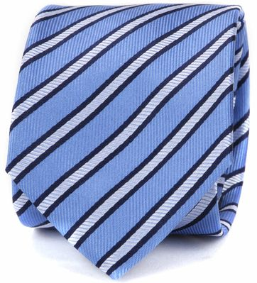 Suitable Krawatte Blau Seide Streifen