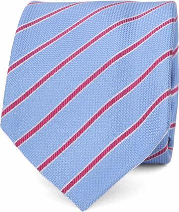 Suitable Krawatte Blau Seide Streifen K91-3