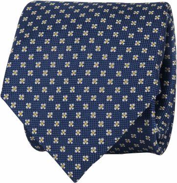 Suitable Krawatte Blumen Dunkelblau