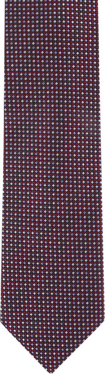 Suitable Krawatte Burgundy Druck