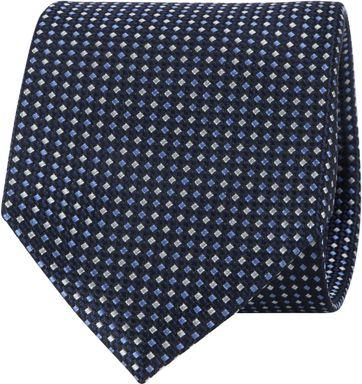 Suitable Krawatte Dunkelblau Druck