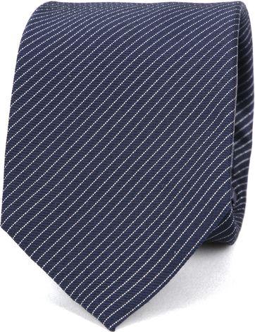 Suitable Krawatte Navy Seide Streifen K91-10