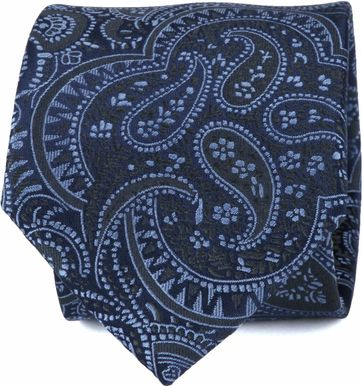 Suitable Krawatte Paisley Blau