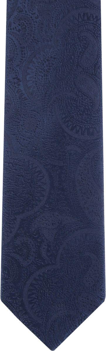 Suitable Krawatte Paisley Dunkelblau