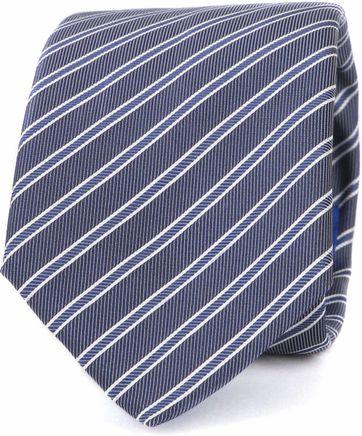 Suitable Krawatte Progetto Streifen Dunkelblau