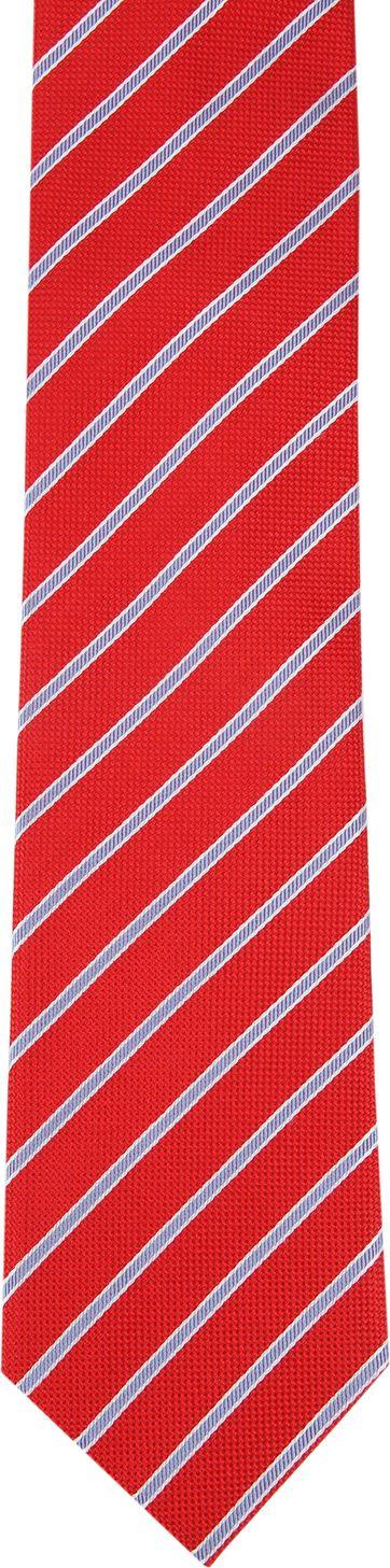 Suitable Krawatte Rot Seide Streifen K91-5