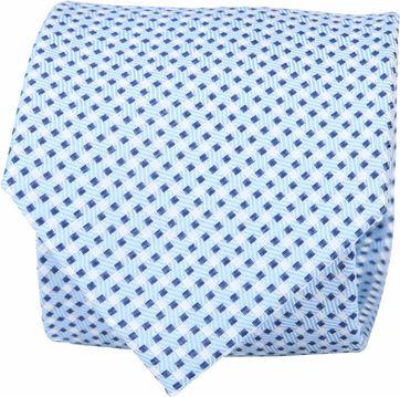 Suitable Krawatte Seide Karo Blau F91-5