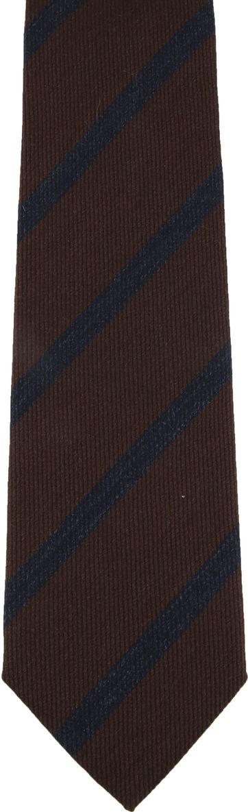 Suitable Krawatte Streifen Braun