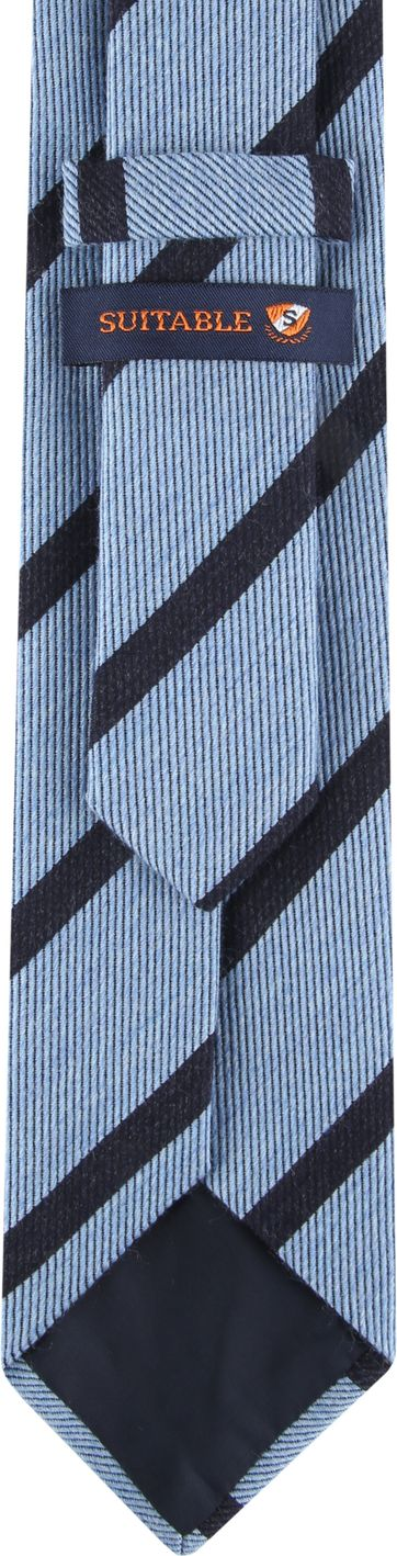 Suitable Krawatte Streifen Hellblau