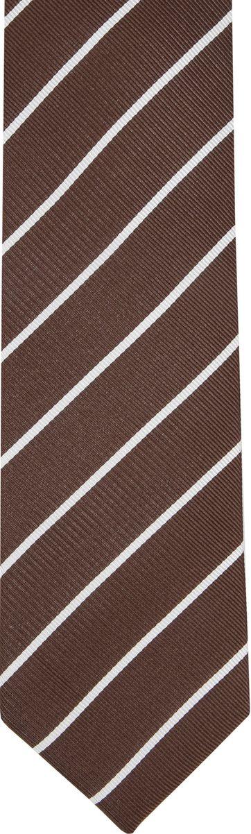Suitable Krawatte Twill Streifen Braun