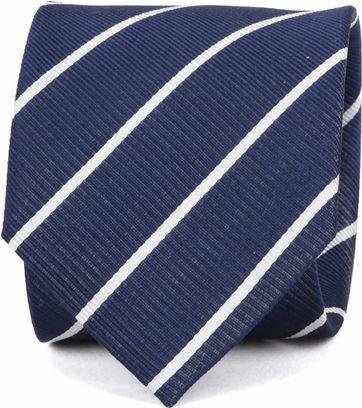 Suitable Krawatte Twill Streifen Dunkelblau