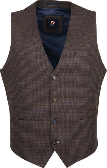 Suitable Kris Waistcoat Brown