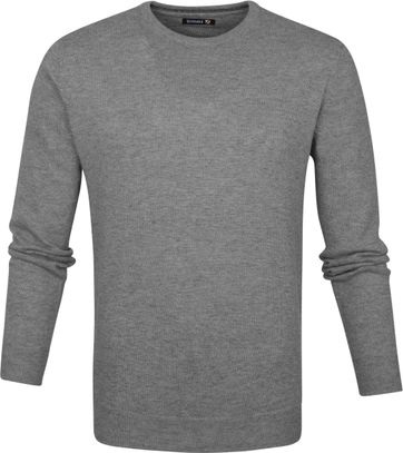Suitable Lambswool Pullover O-Neck Grey
