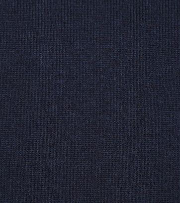 Suitable Lammwolle Pullover V-Ausschnitt Dunkelblau