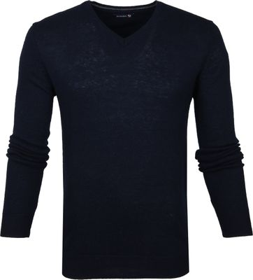 Suitable Lamswol Pullover V-Hals Navy