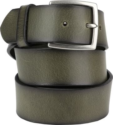 Suitable Leather Belt Green Washed