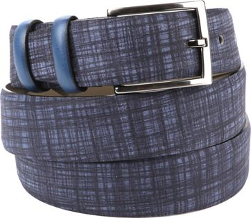 Suitable Leather Belt Navy