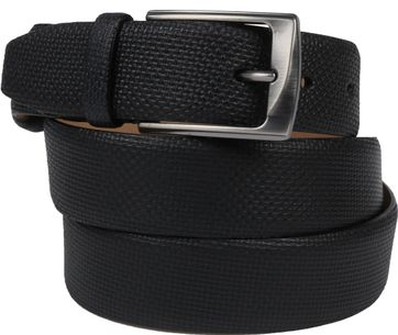 Suitable Leather Belt Print Black