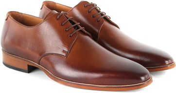 Suitable Leather Derby Shoe Cognac