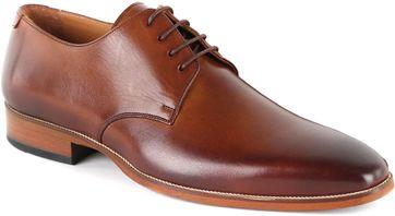 Suitable Leather Derby Shoe Cognac