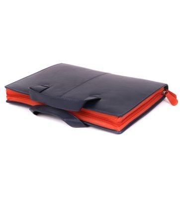 Suitable Leather Laptop Bag 13 Inch Dark Blue