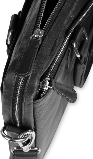 Suitable Leather Laptop Bag 14 Inch Black