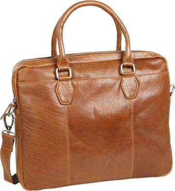 Suitable Leather Laptop Bag 14 Inch Cognac