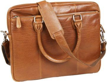 Suitable Leather Laptop Bag 14 Inch Cognac