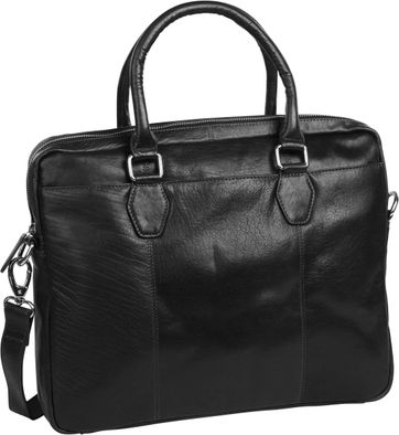 Suitable Leather Laptop Bag 17 Inch Black