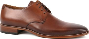Suitable Leather Shoe Dark Cognac