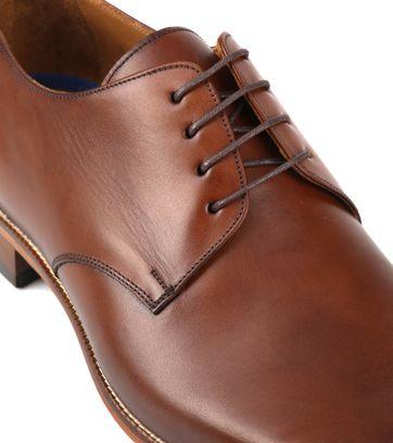 Suitable Leather Shoe Dark Cognac
