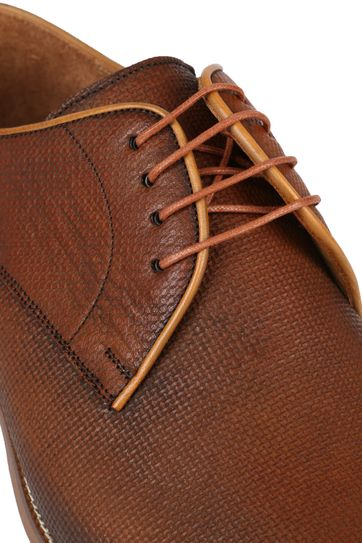 Suitable Leather Shoe Print Cognac
