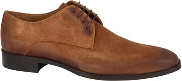 Suitable Leather Shoe Suede Cognac
