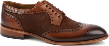 Suitable Leder Herrenschuhe Dessin Cognac
