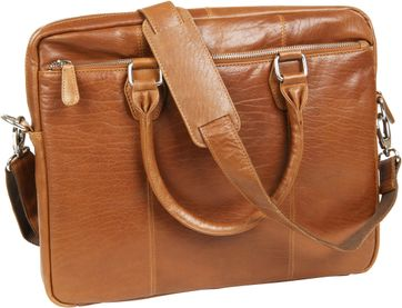 Suitable Leder Laptoptasche 14 Inch Cognac