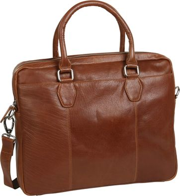 Suitable Leder Laptoptasche 17 Inch Cognac