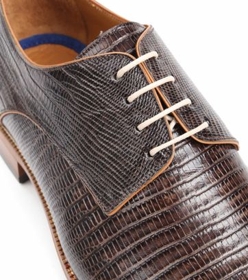 Suitable Leder Schuh Matrix Dunkelbraun