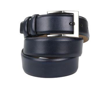 Suitable Ledergürtel Dunkelblau Grau 318